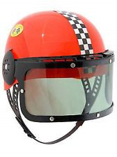 kids childrens plastic car racing costume helmet new
