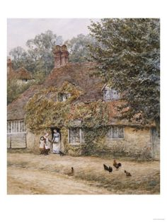 The Old Fish Shop, Haslemere Posters by Helen Allingham at AllPosters.com