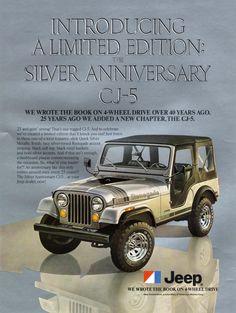 1979 Jeep CJ-5 Limited Edition Silver Anniversary model