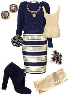 "bon ton style | Navy and Gold"" by colleenscarlett on Polyvore"
