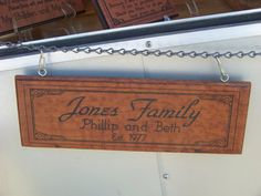 Outdoor or Indoor Personalized Engraved Wood Sign by PNBWoodWorks