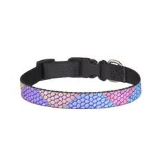 Pastel Chevron Mosaic Dog Collars