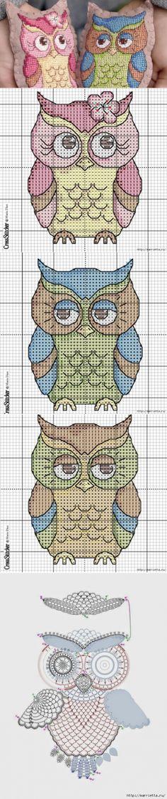 Мастера и умники: Шикарные совы. Шитьё и вышивка, вязание, схемы и идеи