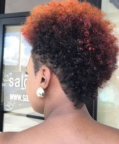 Short, Natural Hairstyle with Color