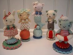 Cute little Seaside Critters by Jenn Docherty. a tiny circus set would be sweet