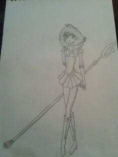 Sailor Moon / Yu-Gi-Oh mashup (Body Saturn / Head Tea)