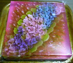3 colors Hydrangeas art Jelly