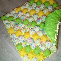 Одеяло бомбон Blanket bubble quilt by Mudrenova Mariya Instagram @_baby_bamby