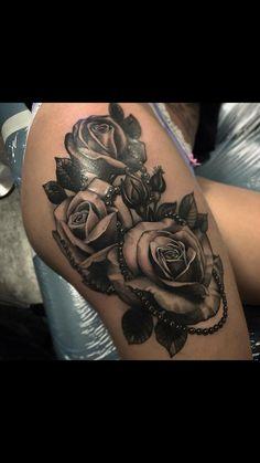 Rose wih black pearls