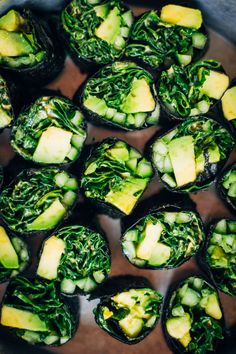 Cleansing Sushi Roll w/ Spicy Kale + Green Veggies by wellandfull #Sushi_Roll #Veggie #Healthy