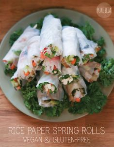 let's have lunch : rice paper spring rolls with creamy tamarind dip (vegan and gluten-free) Rice Paper Spring Rolls, Rice Paper Wraps, Gluten Free Appetizers, Gluten Free Recipes, Appetizer Recipes, Veggie Recipes, Asian Recipes, Clean Eating, Healthy Eating