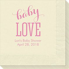 Baby Love Napkins
