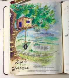 Graceful Palette: The Lord is My Fortress  Psalm 144:2 says He is my...