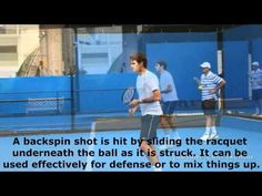Physics in Tennis: How Newton's three laws of motion relate to the racquet hitting the tennis ball as well as how the different applications of force from the racquet cause topspin and backspin on the tennis ball.