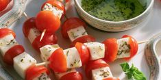 Brochettes de tomates et mozzarella
