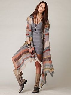 """Maxi Stripe Cardigan 