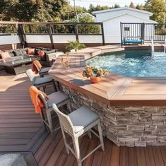 Above Ground Pool Landscaping, Above Ground Pool Decks, Backyard Pool Landscaping, Backyard Patio Designs, Swimming Pools Backyard, In Ground Pools, Rectangle Above Ground Pool, Above Ground Swimming Pools, Diy In Ground Pool