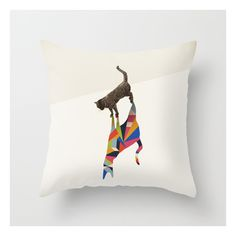 Walking Shadow, Cat Throw Pillow (27 AUD) ❤ liked on Polyvore
