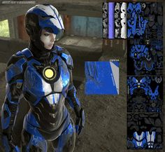 Iron Girl Armor Design - Mark SRT 1 Barracuda — GeekTyrant