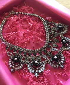 """""""Gypsy Soul Statement Necklace""""Available at www.PearlsAndRocks.com Free Shipping for orders over $30 Use code AMELIA10 for 10% off!"""