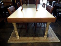 Farm Table at New Leaf Consignment Galleries. Great for entertaining!