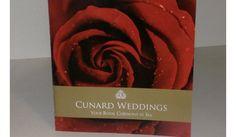 Latest wedding brochure from Cunard.