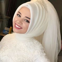2020 most beautiful bridal headband models - # bridal headband . - 2020 most beautiful bridal headband models – headband # most beautiful - Bridal Hijab, Hijab Wedding Dresses, Hijab Bride, Bridal Dresses, Dress Wedding, Hair Wedding, Hijab Simple, Hijab Makeup, Most Beautiful Dresses