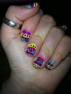 my favorite design :D super colorful and fun nails that i did last year!