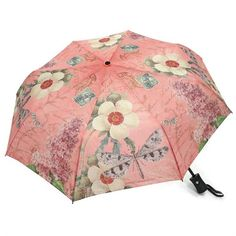Modern Vintage Dragonfly Collapsible Umbrella Auto Open/Close Features: Auto Open/Close Quality Construction with Exceptional Printing Polyester Fabric Collect
