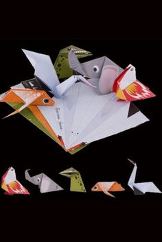 These fantastic paper placemats are fun for little ones and big kids alike. The are great for making meal times fun, the paper placemats with a retro feel fold with easy instructions to make cool origami animals. There are 50 per set. They make 4 different animal designs. @Rockett StGeorge £11.50
