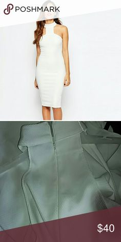 Asos white dress This is a beautiful dress white 95%polyester 5%elastane get ready for spring ladies make a offer asos  Dresses