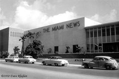1958 – The Miami News building on NW 7th Street - Amazing Midcentury Photographs of Miami  Page 2 of 2  Best of Web Shrine