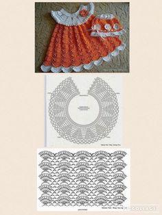 Crochet Vest Pattern Knit Crochet Crochet Patterns Crochet Baby Booties Baby Girl Crochet Crochet For Kids Baby Knitting Hand Embroidery Baby Dress IG ~ ~ crochet yoke for Irish lace, crochet, crochet p This post was discovered by Ел New model, new colo Crochet Toddler Dress, Crochet Dress Girl, Crochet Baby Dress Pattern, Crochet Fabric, Crochet Motifs, Baby Girl Crochet, Crochet Baby Clothes, Crochet Diagram, Crochet Chart