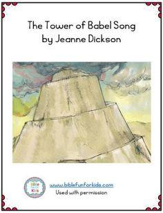 Tower of Babel includes a new song by Jeanne Dickson Preschool Bible Lessons, Preschool Songs, Preschool Class, Preschool Ideas, Kindergarten Sunday School, Sunday School Crafts, Bible Songs, Book Of Genesis, Tower Of Babel
