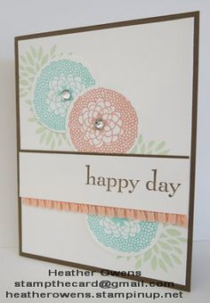 Sale-a-Bration card using Petal Parade from Stampin' Up!