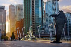 You can view Vancouver city skyline with Olympic Torch Cauldron and Digital Orca at Vancouver Convention Centre, BC Canada. Travel Around The World, Around The Worlds, City Of Glass, Vancouver City, States In America, Convention Centre, Countries Of The World, Photos, Pictures