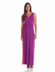Amazon.com: Lilla P Women's Color Block Maxi Dress: Clothing