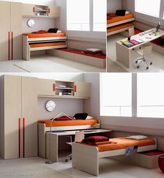 Great space saving idea, perfect for a kids room. Yeah more room to play, easy to clean.