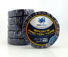"""Tako Grip's Sports Friction Tape is double-sided sticky tape, with more sticky resin than the competition. Unlike other friction tapes, Tako Grip's Sports Friction Tape has thicker cotton so it won't easily rip. This tape is long lasting, and provides a high level of grip needed in many sports.   1"""" X 60 FT.  Made in the USA (like ALL of Tako Grip's products) Ideal for Hockey, Pole Vault, Baseball, Softball and many more...Sports Friction Tape $6.00"""