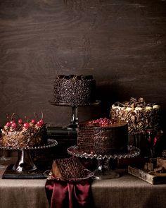 Brown, chocolate cakes