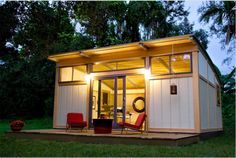 Cabin Fever - Clean, green and eye-catching. For fans of prefab tiny houses, these three words describe the beautiful designs of Cabin Fever, based in Irvine, California and Miami, Florida. Their prefab designs encompass everything that you need in a tiny house including green design, customization, various size options and simple but elegant details. The prices are not bad either.