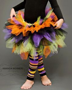 Witch tutu Halloween costume. Adorableness