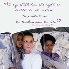 "rareaudreyhepburn: "" Quote originally from a speech Audrey Hepburn gave during her time as UNICEF ambassador. (picture: Audrey Hepburn in Ethiopia, (made by rareaudreyhepburn) """