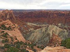 Center of the Upheaval dome- Canyonlands