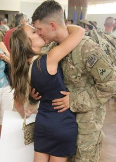 Because this moment makes the months apart worth it! Love can survive any test, but only true love could survive a deployment! Military Girlfriend, Military Love, Army Love, Love Can, Portrait Ideas, Girlfriends, Dream Wedding, In This Moment, Life