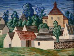 Jan Zrzavý: Okrouhlice Civil Engineering, Roman Catholic, Taj Mahal, Drawings, Illustration, November Birthday, Houses, Paintings, Artists