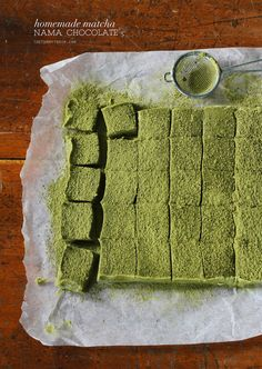 Homemade Matcha Nama Chocolate Recipe   A solid copycat recipe for a delicious Japanese favourite. Just make sure you use high-quality white chocolate for maximum pleasure!