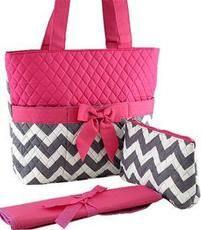 Chevron Print Quilted Diaper Bag $29.95 http://www.sparklyexpressions.com/#1019