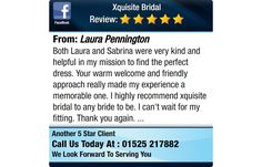Both Laura and Sabrina were very kind and helpful in my mission to find the perfect dress....