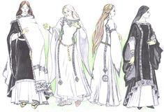 Gondorian clothing for women by ~Tindarien on deviantART Byzantine Styled Garb #byzantine #garb